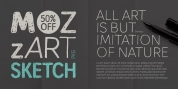 Mozzart Sketch font download