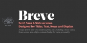 Breve Display font download