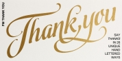 FM Thank You font download