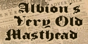 Albion's Very Old Masthead font download
