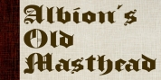 Albion's Old Masthead font download