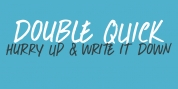 Double Quick font download