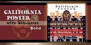 California Poster SG font download