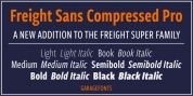 Freight Sans Compressed Pro font download