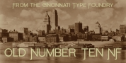 Old Number Ten NF font download