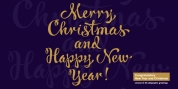 Congratulatory New Year And Christmas font download