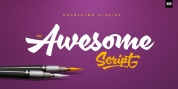 XXII AwesomeScript font download