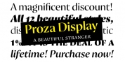 Proza Display font download