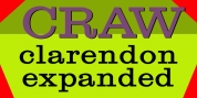 Craw Clarendon Expanded font download