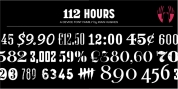 112 Hours font download