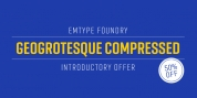 Geogrotesque Compressed font download