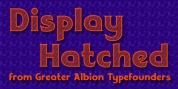 Display Hatched font download