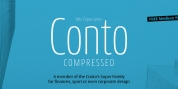 Conto Compressed font download