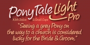 Pony Tale Light Pro font download