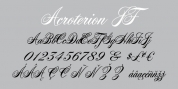 Acroterion JF font download