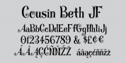 Cousin Beth JF font download