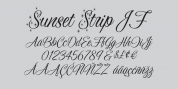 Sunset Strip JF font download