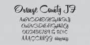 Orange County JF font download