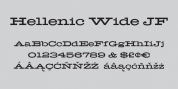 Hellenic Wide JF font download