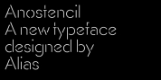 AnoStencil font download
