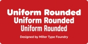 Uniform Rounded font download