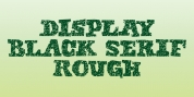 Display Black Serif Rough font download