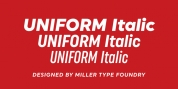 Uniform Italic font download