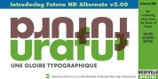 Futura ND Alternate font download