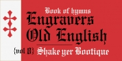 Monotype Engravers Old English font download