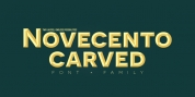 Novecento Carved font download