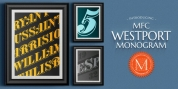 MFC Westport Monogram font download