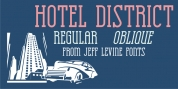 Hotel District JNL font download