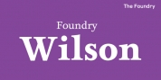 Foundry Wilson font download