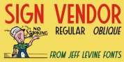 Sign Vendor JNL font download