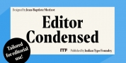 Editor Condensed font download