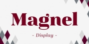 Magnel Display font download
