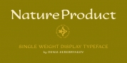 Nature Product font download