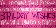 Birthday Wish PB font download