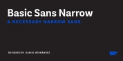 Basic Sans Narrow font download