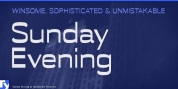 Sunday Evening font download