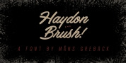 Haydon Brush font download