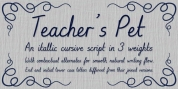 Teacher's Pet font download