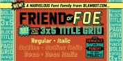 Friend Or Foe BB font download