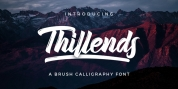Thillends font download