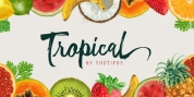 Tropical font download