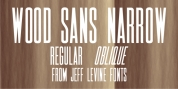 Wood Sans Narrow JNL font download