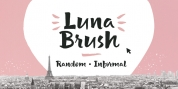 Luna Brush font download