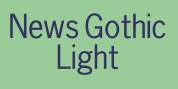 News Gothic Light font download