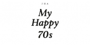 JHA My Happy 70s font download