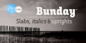 Bunday Slab font download